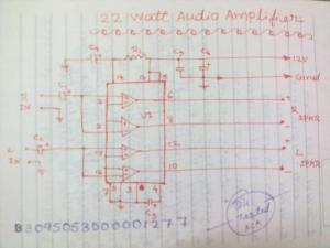 22 watts amp circuit